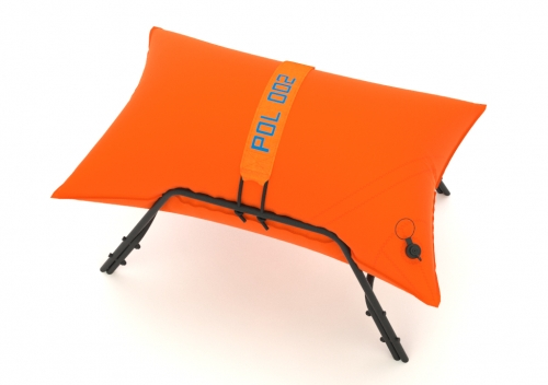Inflatable stool made from Dacron. Waterproof, specially for outdoor use.